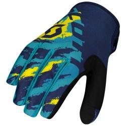 SCOTT 350 Fury Glove  blue/yellow